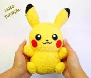 Sock Pikachu Toy Free Sewing Pattern