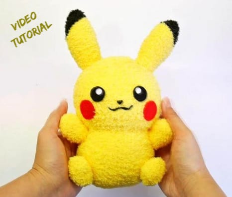 Sock Pikachu Toy Free Sewing Pattern