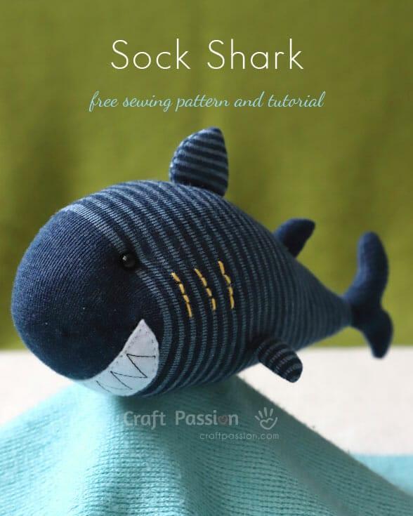 Sock Shark Free Sewing Pattern