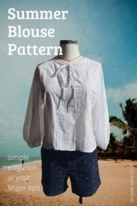 Summer Blouse FREE Sewing Pattern