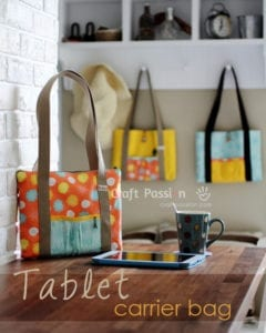 Tablet Carrier Bag FREE Sewing Pattern