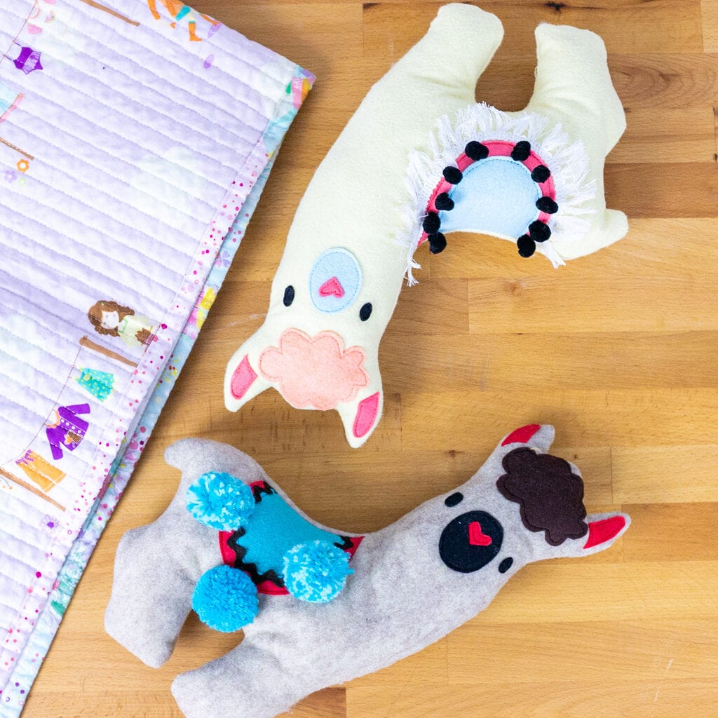 Llama Stuffie Free Sewing Pattern