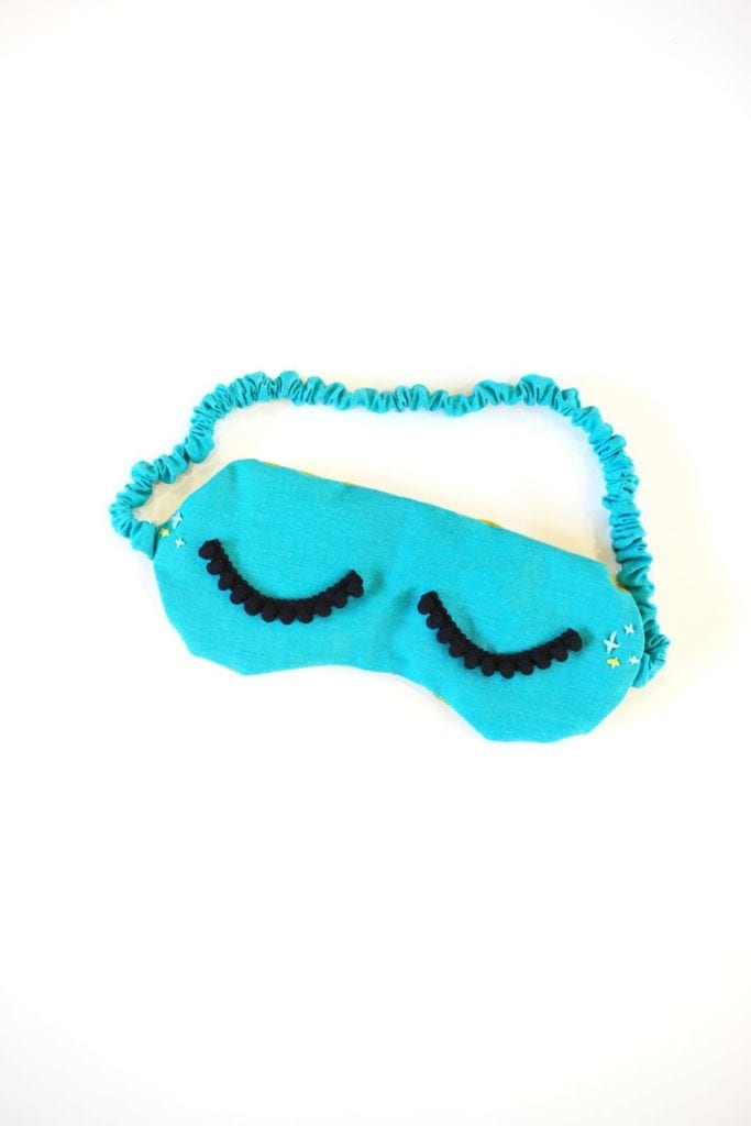 DIY Sleepy Eye Mask FREE Sewing Pattern