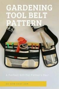 Gardening Tool Belt FREE Sewing Pattern