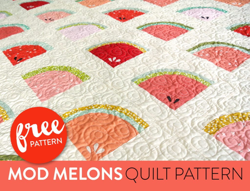 Mod Melons Free Quilt Pattern