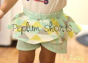 Peplum Shorts FREE Pattern