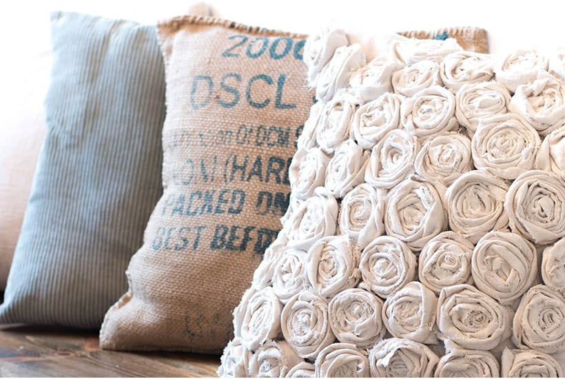 Rose Textured Pillow FREE Sewing Tutorial