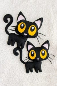 Black Cat Softie Free Sewing Pattern