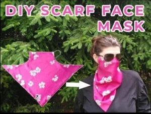 Scarf Face Mask Free Sewing Pattern