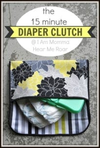 Diaper Clutch FREE Sewing Tutorial