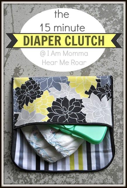 Diaper Clutch FREE Sewing Tutorial