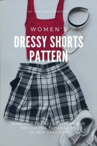 Dressy Shorts FREE Sewing Pattern