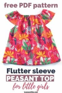 Flutter Sleeve Peasant Top