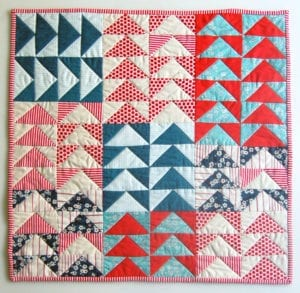 Flying Geese Mini Quilt FREE Tutorial