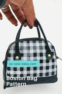 Micro Boston Bag FREE Sewing Pattern
