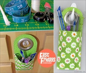 Mini Storage Hanging Pocket FREE Sewing Pattern