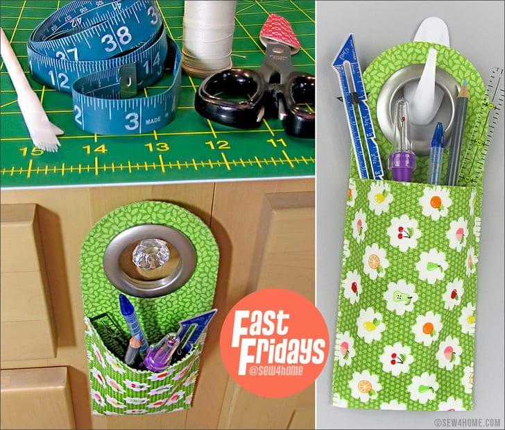 Mini Storage Hanging Pocket FREE Sewing Pattern