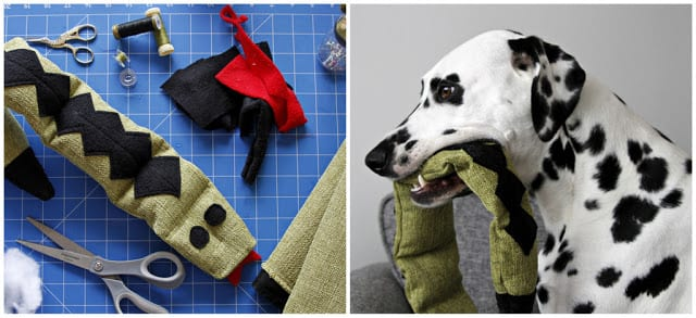 Stuffed Snake Dog Toy FREE Sewing Tutorial