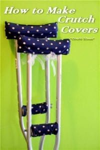 Crutch Covers and Pads FREE Sewing Tutorial