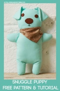 Snuggle Puppy FREE Sewing Pattern