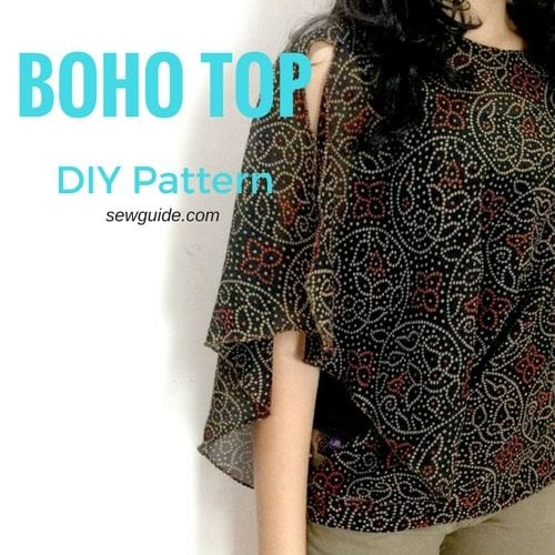 Batwing Sleeved Boho Top FREE Tutorial