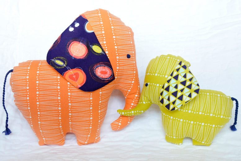 Elephant Dolls FREE Sewing Pattern and Tutorial