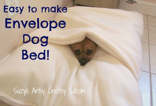 Envelope Dog Bed FREE Sewing Tutorial