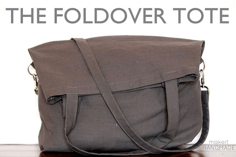 Foldover Tote FREE Sewing Tutorial