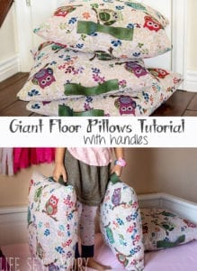 Giant Floor Pillows with Handles FREE Sewing Tutorial