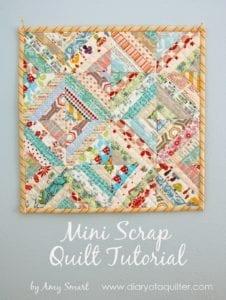 Gorgeous Mini Scrap Quilt Tutorial