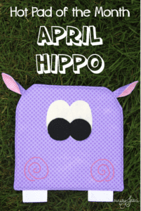 Hippo Hot Pad FREE Sewing Pattern