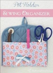 Pot Holder Sewing Organizer FREE Tutorial