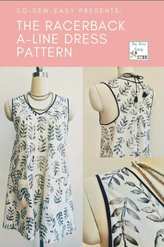 Racerback A-Line Dress FREE Sewing Pattern
