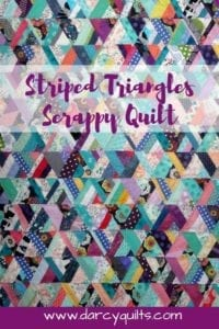 Striped Triangles Scrappy Quilt Tutorial