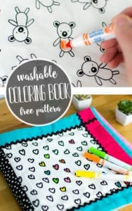 Washable Coloring Book FREE Sewing Tutorial