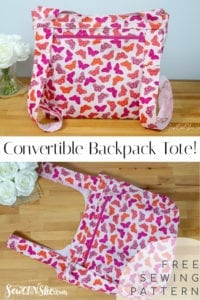 Convertible Backpack Tote FREE Sewing Tutorial