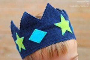 Denim Play Crown FREE Sewing Pattern
