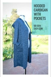 Hooded Cardigan with Pockets FREE Sewing Pattern