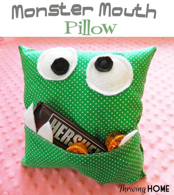 Monster Pillow FREE Sewing Tutorial