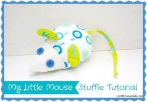 Mouse Stuffed Toy FREE Sewing Pattern