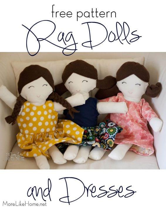 Rag Doll FREE Sewing Pattern