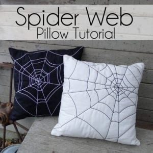 Spider Web Pillows FREE Tutorial