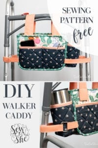 Walker Caddy with a Cup Holder FREE Sewing Pattern