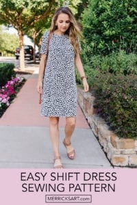 Easy Shift Dress FREE Sewing Pattern