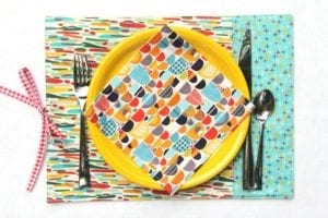 Easy to Sew Re-usable DIY Placemats