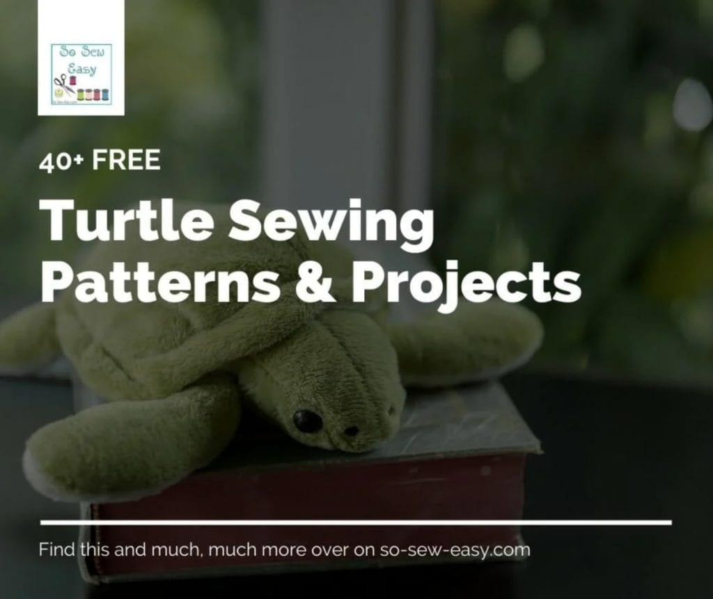 FREE Turtle Sewing Patterns
