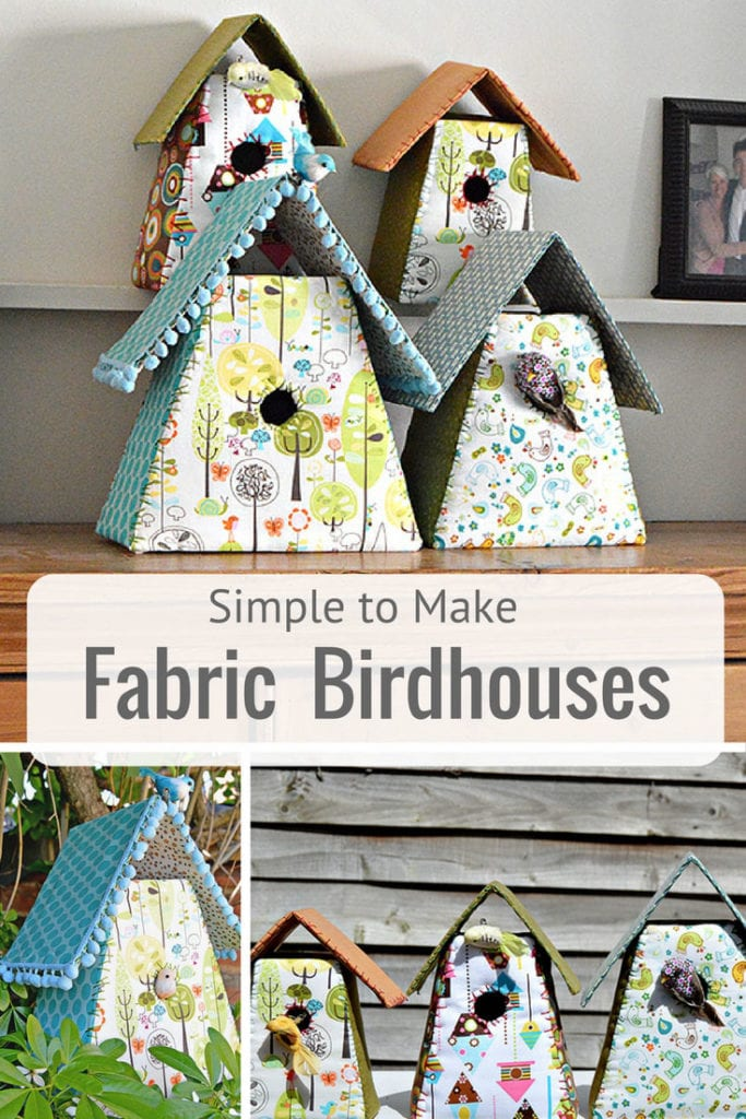 Fabric Birdhouses FREE Sewing Pattern