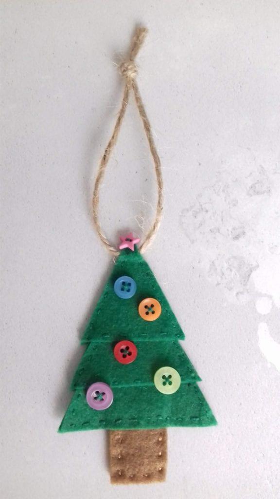 Felt Tree Ornament FREE Sewing Pattern