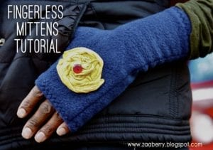 Fingerless Fleece Mittens FREE Sewing Tutorial