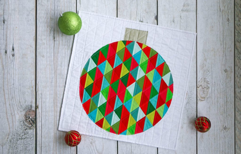 Holiday Ornament Mini Quilt FREE Tutorial
